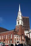 Boston-Park-Straßen-Kirche Stockbilder
