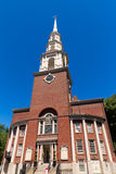 Boston Park Street Church in Massachusetts Royalty Free Stock Image