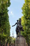 Boston Paul Revere Statue Royaltyfria Foton