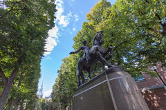 Boston Paul Revere Statue Royalty Free Stock Image
