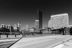 Boston pejzaż miejski w czarny i biały kolorach, usa Obrazy Stock