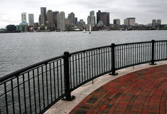 Boston from the Pier. Boston Skyline from Pier Park in East Boston stock photography