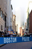 Boston Police Barrier Stock Photography