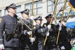 Boston Police Honor Guard, St. Patrick's Day Parade, 2014, South Boston, Massachusetts, USA Royalty Free Stock Photo