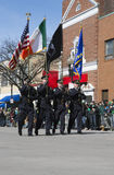 Boston Police Honor guard, St. Patrick's Day Parade, 2014, South Boston, Massachusetts, USA Stock Image