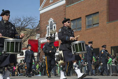 Boston Police, St. Patrick's Day Parade, 2014, South Boston, Massachusetts, USA Stock Images