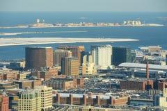 Boston portu morskiego okręg, Boston, Massachusetts, usa Fotografia Royalty Free