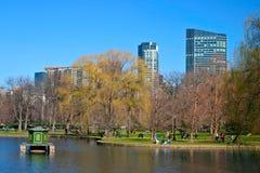 Boston Public Garden. In autumn Royalty Free Stock Photography