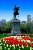 Boston Public Garden. George Washington Statue in Boston Public Garden Stock Images