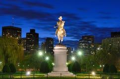 Boston Public Garden. George Washington Equestrian Statue at Public Garden in Boston, Massachusetts stock photo