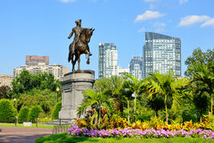 Boston Public Garden. George Washington Statue in Boston Public Garden Stock Photography