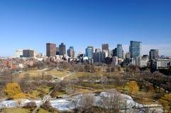 Boston Public Garden and cityscape Royalty Free Stock Photography