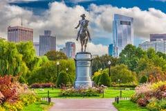 Boston Public Garden. George Washington Monument at Public Garden in Boston, Massachusetts, USA royalty free stock photos