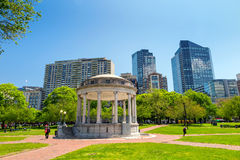 Boston Public Garden in Massachusetts Royalty Free Stock Photography