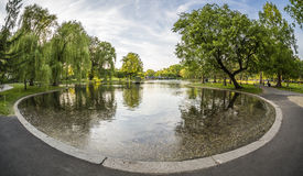 Boston Public Garden in Massachusetts, USA Stock Image