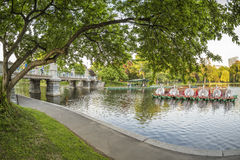 Boston Public Garden in Massachusetts, USA Royalty Free Stock Images