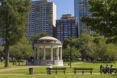 Boston Public Garden in Massachusetts, USA Stock Photo