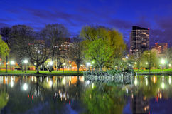 Boston Public Gardens Stock Image