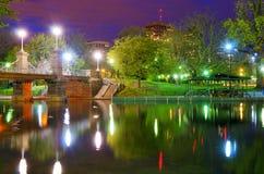 Boston Public Gardens. Lagoon Bridge at the Boston Public Gardens in Boston, Massachusetts Stock Photography