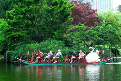 Boston Public Gardens Swan Boats Royalty Free Stock Photography