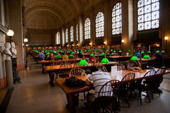 Boston Public Library interior Stock Images