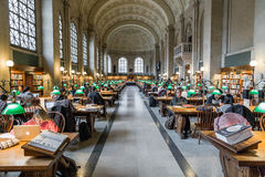 The Boston Public Library stock images