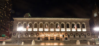 Boston Public Library. The McKim building of the Boston Public Library Stock Image