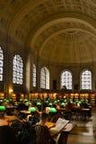 Boston Public Library. Reading hall Stock Photos