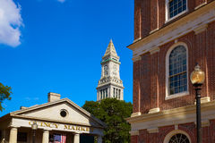 Boston Quincy Marchet and Custom House tower Stock Image