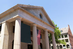 Boston Quincy Market facade in Massachusetts Stock Photo