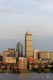 Boston-rückseitiger Schacht mit dem vernünftigen Kontrollturm stockfotos