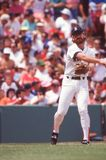 Boston Red Sox Legend Wade Boggs. Boston Red Sox Hall of Fame 3B Wade Boggs. Image taken from color slide stock image