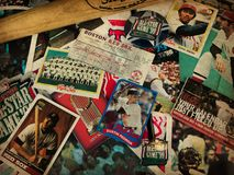 Boston Red Sox Legends collage. A collage of memories related to the Boston Red Sox through the years Royalty Free Stock Photo