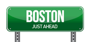 Boston Road Sign Royalty Free Stock Photo
