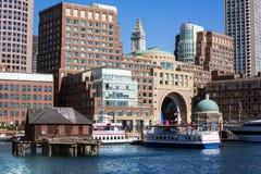 Boston Rowes hamnplats i Massachusetts arkivfoton