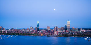 Boston's Back Bay and Cambridge, MA Royalty Free Stock Photo