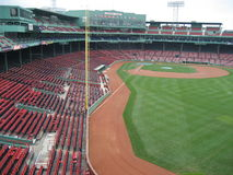 Boston's Fenway Park taken from outfield Royalty Free Stock Image