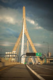 Boston's Leonard P Zakim Cable Stay Bridge Royalty Free Stock Photos