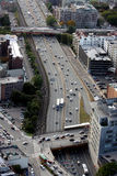 Boston's panorama from Prudential tower Stock Photography
