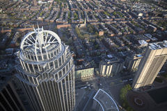 Boston's panoramic view as it is seen from Prudential tower Stock Photos