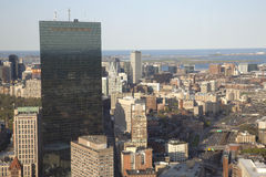 Boston's panoramic view as it is seen from Prudential tower Royalty Free Stock Photo