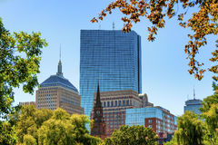 Free Boston`s Skyline View From Public Gardens Stock Photo - 97698210