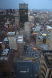 Boston's sunset panoramic view as it is seen from Prudential tower Stock Images