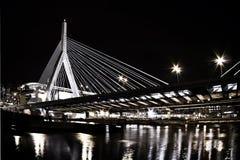 Boston's suspension bridge. In dowtown, also known as thr Leanoard P Zakim Bridge stock photo