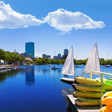 Boston sailboats Charles River at The Esplanade Stock Images