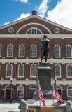 Boston Samuel Adams monument Faneuil Hall Royaltyfri Foto