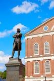 Boston Samuel Adams monument Faneuil Hall Stock Image