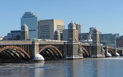 Boston scenery with bridge and river Stock Images