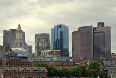 Boston from the sea Royalty Free Stock Images