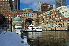 Boston seaport Stock Photo
